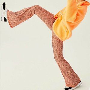 Free People Movement Pink Start It Flare Leggings